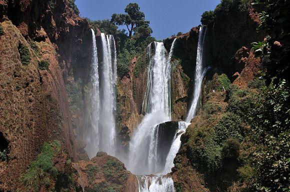 Las cascadas de Ouzoud nos ofrecerán uno de los paisajes más bellos del Norte de África