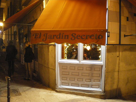 El Jardín Secreto cafetería Madrid