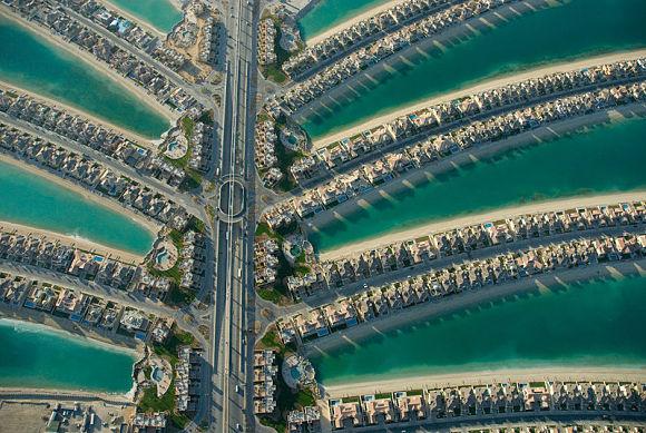 Las Islas Palm son edificaciones construidas para viviendas y lujosos hoteles