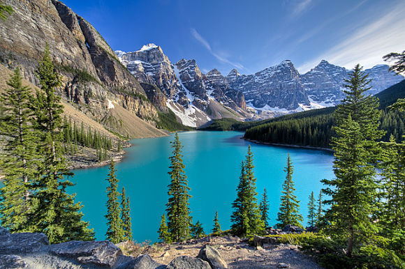 El Parque Nacional Banff se encuentra en las Montañas Rocosas de Canadá