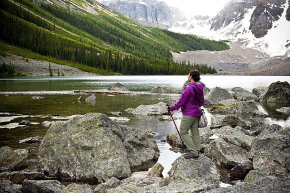 En el Parque Nacional Banff hay multitud de senderos y rutas para los amantes del senderismo