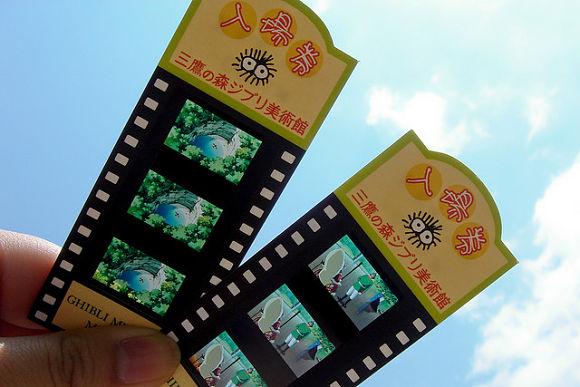 Imagen de los divertidos y originales tickets del Museo Ghibli