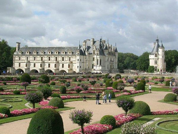 Fotografía de los jardines de Diana de Poitiers