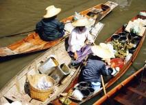 Canoas mercado flotante Bangkok