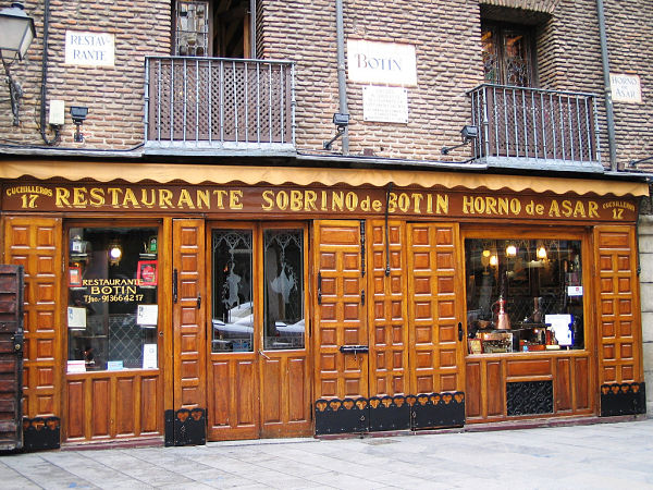 Restaurante Botín Madrid
