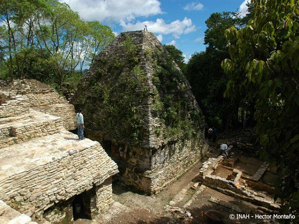 Palacio maya encontrado en Plan de Ayutla, Chiapas, México