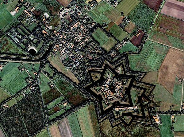 Bourtange imagen satélite