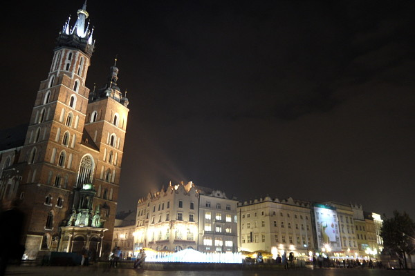 Plaza Central Cracovia basílica Santa María