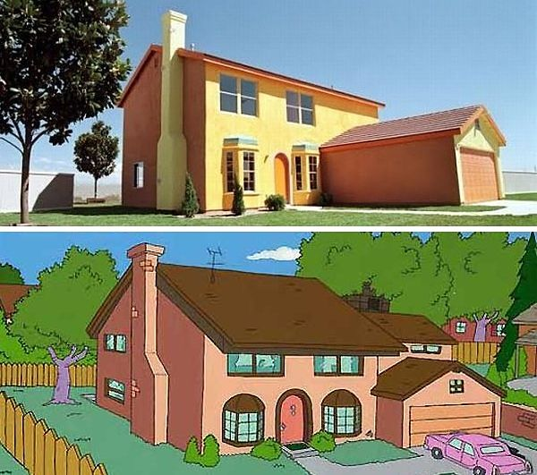 Los Simpsons casa vida real
