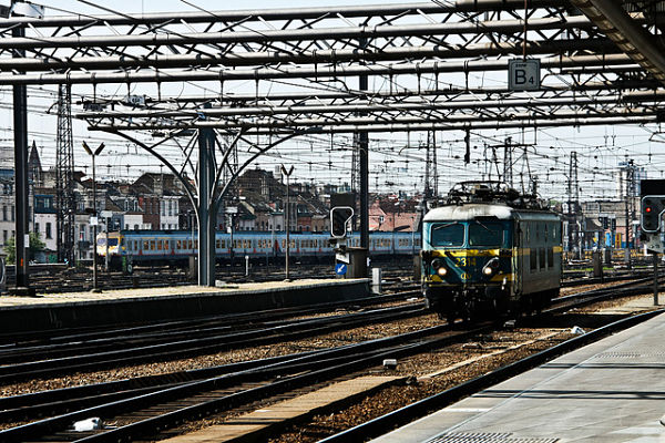 Gare du Midi estación tren sur Bruselas