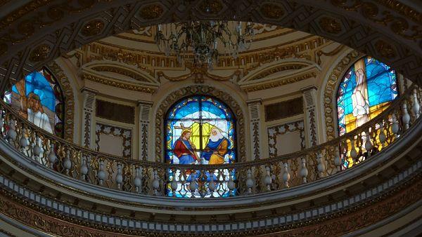 Interior de la iglesia de Nuestra Señora de los Remedios de Cholula