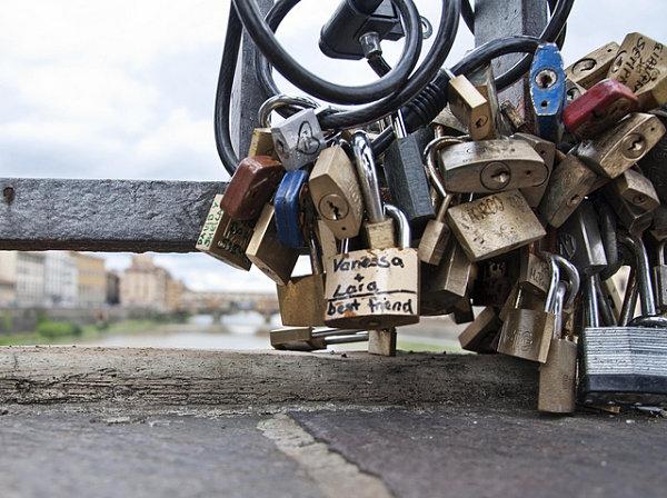Puente Vecchio candados amor