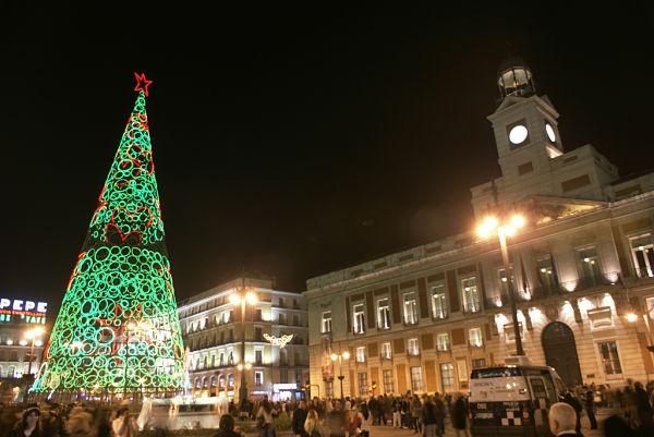 Puerta del Sol Madrid navidad