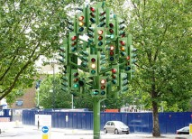 Traffic Light Tree londres arbol semaforo