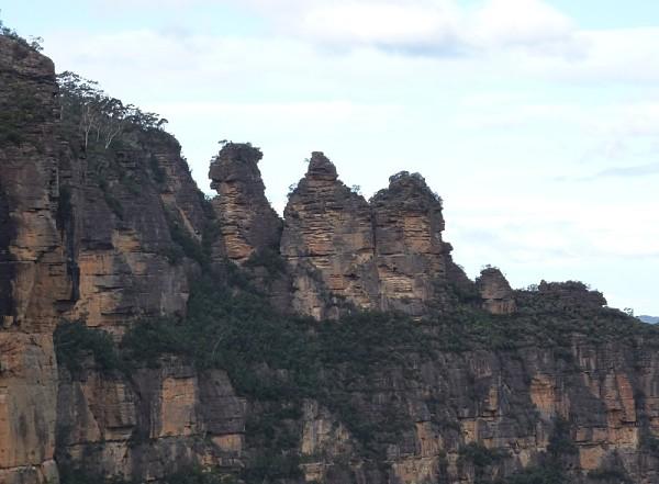 Fotografía de las tres hermanas de las Montañas Azules de Australia