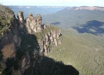 Las tres hermanas de la tribu Katoomba convertidas en piedra en las Montañas Azules de Australia