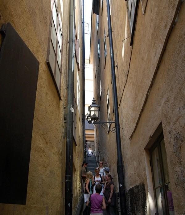 La calle Marten Trotzigs Grand cuenta con un ancho de apenas 90 centímetros