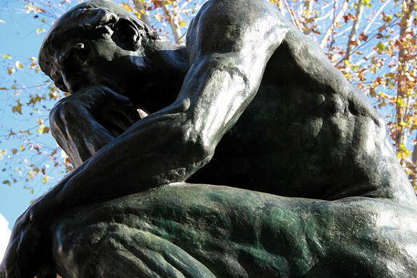 Fotografía de 'El pensador', la famosa escultura de Auguste Rodin