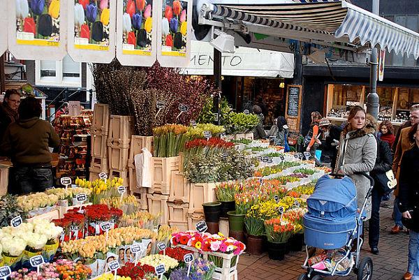 Resultado de imagen de mercado de las flores amsterdam