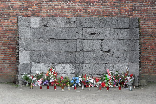 muro fusilamiento auschwitz