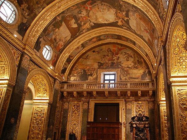 catedral san juan malta techo pinturas