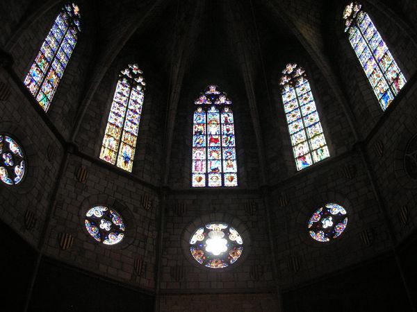 monasterio pedralbes vidrieras