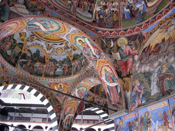 Iglesia Rila frescos