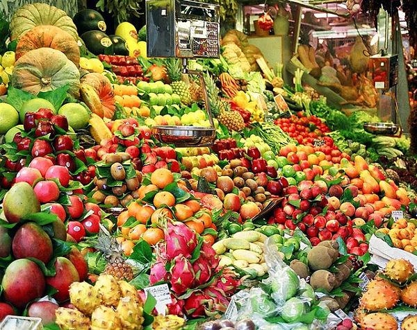 la boqueria barcelona fruta