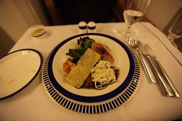 viajar primera clase comida