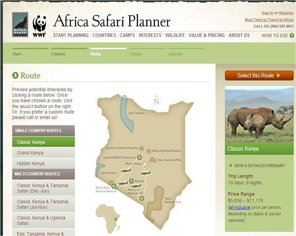 africa safari planner