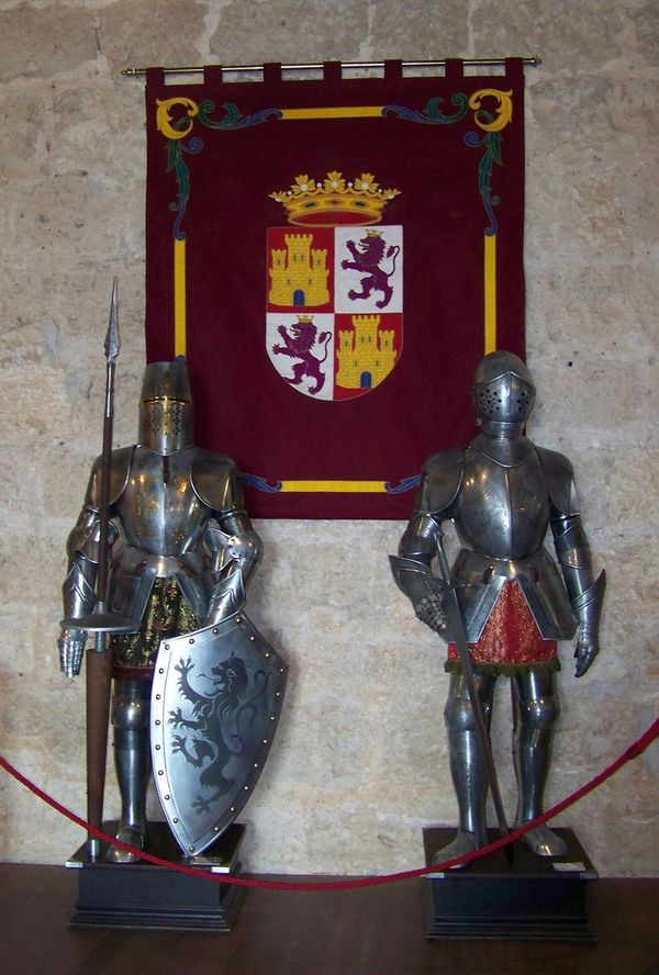 castillo peñafiel armaduras