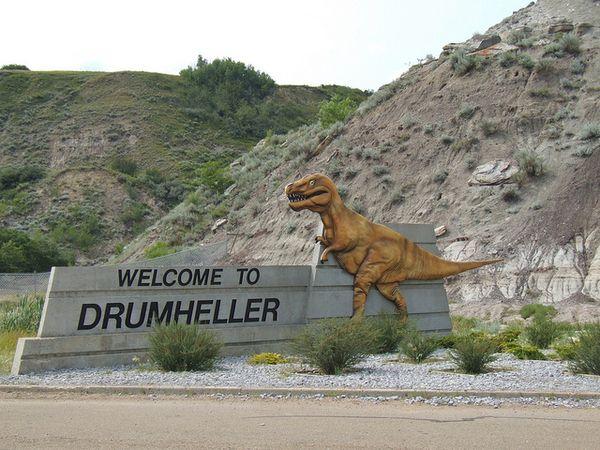 drumheller dinosaurios ciudad