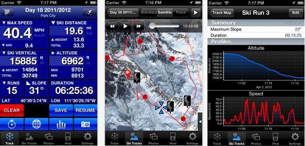 app nieve ski tracks