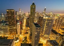 Cityscape Chicago time-lapse